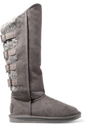 Australia Luxe Collective Spartan Tall Shearling Boots Gray