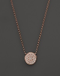 Kc Designs Diamond Pave Disc Pendant Necklace In 14K Rose Gold 17.5
