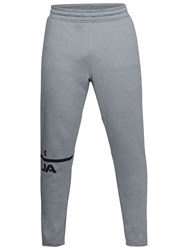 Under Armour Tech Terry Tracksuit Bottoms Steel Black