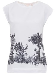 Ted Baker Woodland Toile Woven T Shirt White
