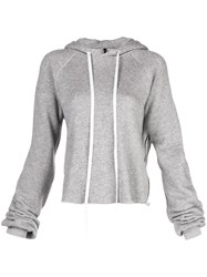 Unravel Project Drawstring Hooded Sweater Grey