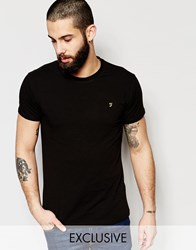 Farah T Shirt With F Logo Muscle Fit Exclusive Black