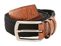 Torino Leather Co. 32Mm Italian Woven Multi Cotton Elastic Black Belts