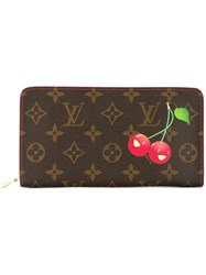 Louis Vuitton Vintage Porte Monnaie Zip Wallet Brown