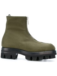 Alyx Military Ankle Boots Cotton Calf Leather Rubber