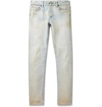 John Elliott The Cast 2 Skinny Fit Distressed Denim Jeans Light Denim