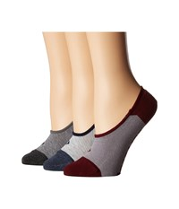 Sperry Canoe Liners 3 Pack Gray Heather Assorted Low Cut Socks Shoes Multi