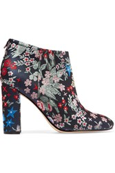 Sam Edelman Cambell Floral Brocade Ankle Boots Gray