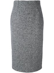 Red Valentino Mid Pencil Skirt Black