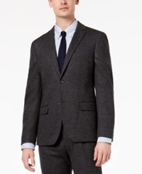 Bar Iii Men's Slim Fit Gray Knit Suit Jacket Created For Macy's
