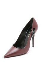 Narciso Rodriguez Deva Cutout Pumps Bordeaux