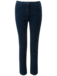 Pure Collection Washed Velvet Cropped Jeans Midnight Blue
