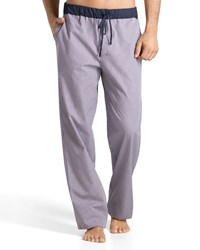 Hanro Night And Day Check Lounge Pants Pink Blue