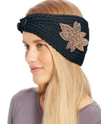 David And Young Flower Applique Headwrap Navy