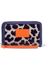 Marc By Marc Jacobs Wingman Coated Cotton And Pvc Wallet Purple
