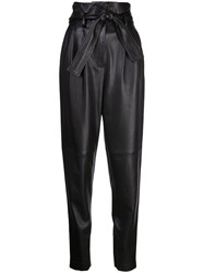 Adam By Adam Lippes High Waisted Tapered Trousers Black