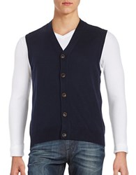 Brooks Brothers Button Down Merino Wool Vest Navy