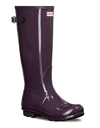 Hunter Original Back Rain Boots Purple