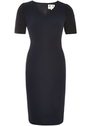 Austin Reed Colour Block Dress Navy