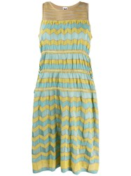M Missoni Fitted Summer Dress Yellow
