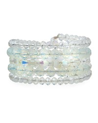 Emily And Ashley Mother Of Pearl Five Row Wrap Bracelet Cream
