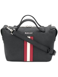 Bally Stripe Trim Shoulder Bag Black
