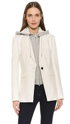Veronica Beard Long And Lean Compact Jacket White Hoodie Dickey