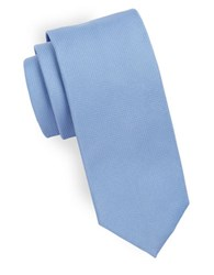 Hugo Pin Dot Silk Tie Light Blue