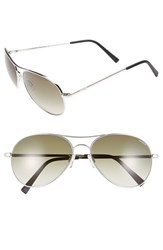 Men's Randolph Engineering 'Amelia' 61Mm Aviator Sunglasses Rhodium Green Gradient