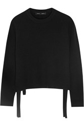 Proenza Schouler Tie Side Wool And Cashmere Blend Sweater Black