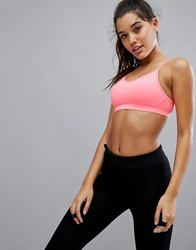 Elle Sport Strappy Sports Bra With Mesh Back Pink