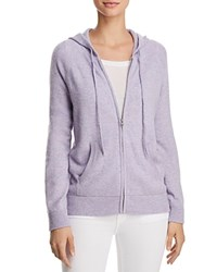 Aqua Cashmere Zip Front Hoodie 100 Exclusive Heather Iris