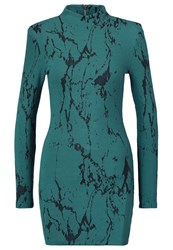Ivy Revel Rocky Jersey Dress Teal Green Turquoise