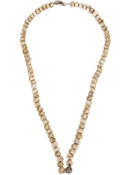 Loree Rodkin Large Beaded Necklace Nude And Neutrals