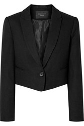 Equipment Wright Cropped Wool Blazer Black