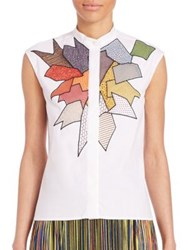 Christopher Kane Sleeveless Patchwork Top White