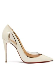 Christian Louboutin Cosmo 554 Patent Leather Pumps White