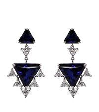 Carat Sylix Sapphire Cocktails Drop Earrings Female Silver