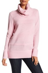 Diane Von Furstenberg Talassa Wool And Cashmere Blend Turtleneck Sweater Pink