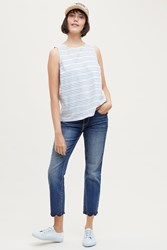 Anthropologie Driftwood Candace Mid Rise Embroidered Ankle Jeans Denim Dark