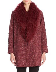 Nic Zoe Faux Fur Collared Coat Oxide