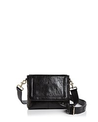 Halston Heritage Dylan Small Leather Crossbody Black Gold
