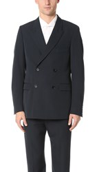 Christophe Lemaire Double Breasted Jacket Midnight Blue