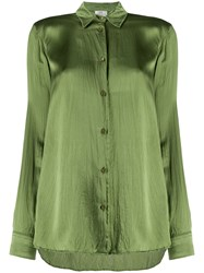 Forte Forte Wrinkled Effect Loose Fit Blouse Green
