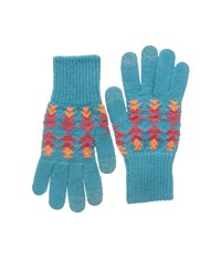 Pendleton Texting Gloves Tucson Turquoise Over Mits Gloves Blue