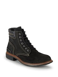 Cole Haan Bryce Suede Lace Up Boots Black