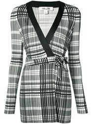 Diane Von Furstenberg Checked Romper Women Silk 2 Black