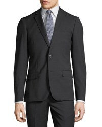 Neiman Marcus Slim Fit Pinstriped Suit Charcoal