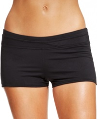 Jag Solid Boyshort Swim Bottom Women's Swimsuit Black