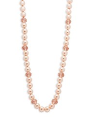 Heidi Daus Mixed Beaded Long Strand Necklace Pink